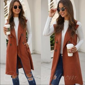 Waterfall Double Button Pocket Side Vest